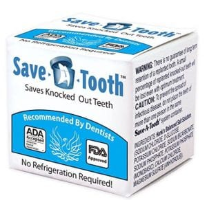 Photo of Save-a-Tooth for knocked out teeth, from affordable Plano TX dentist Miranda Lacy.