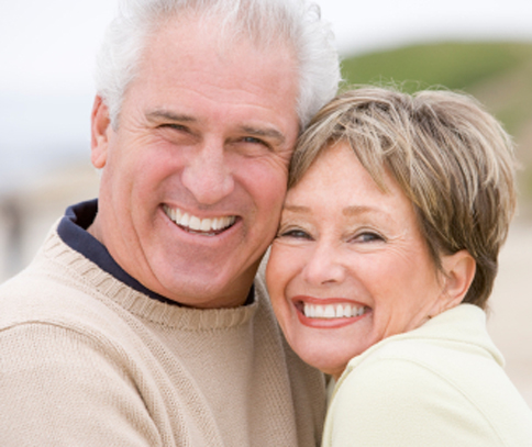 Photo of senior couple for Plano ceramic crowns from Dr. Miranda Lacy.